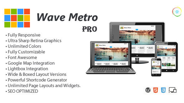 WaveMetroPro – Responsive Multi-Purpose Theme Free Download