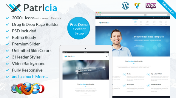 Patricia | Responsive Multi-Purpose WordPress Theme