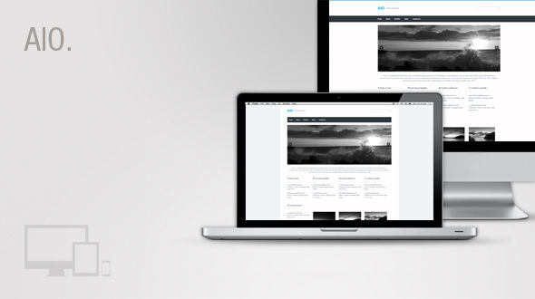 AIO – All in one responsive WordPress theme. Free Download