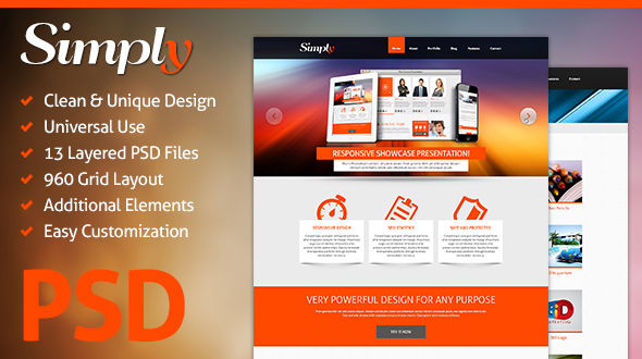 Simply – Creative PSD Template Free Download