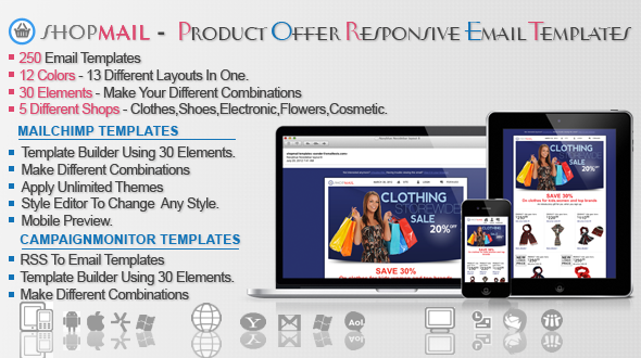 ShopMail – Product Offer Responsive Email Template Free Download