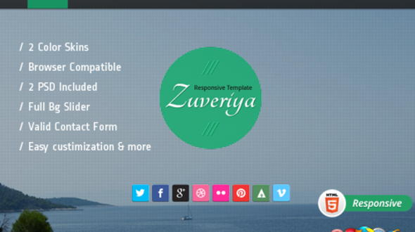 Zuveriya Responsive Single Page HTML5 Template Free Download