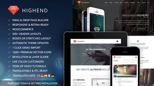 Highend – Ultimate Multi-Purpose WordPress Theme