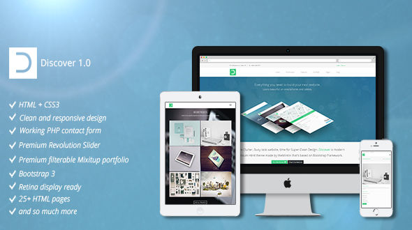 Discover Website Template
