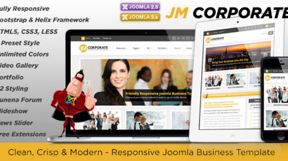 Jm corporate responsive joomla business template mojo themes jm corporate responsive joomla business template cheaphphosting Image collections