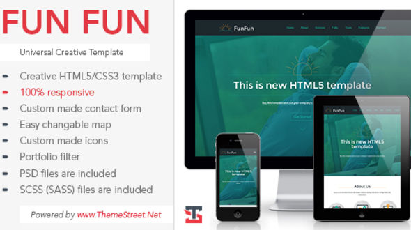 Fun Fun Website Template