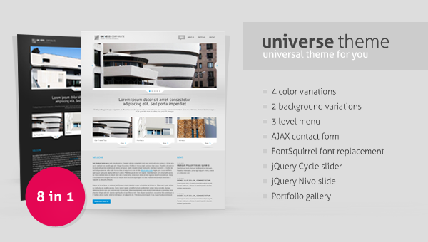 Universe – HTML Template Free Download