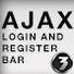 Ajax Login bar