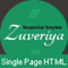 Zuveriya Responsive Single Page HTML5 Template